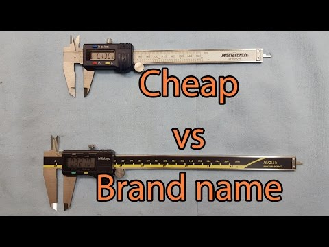 Digital caliper comparison - Mitutoyo Brand name VS Cheap Brand