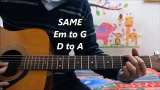 Aaj Se Teri - Arijit Singh - Padman - Hindi Guitar Cover Lesson Chords Easy Version