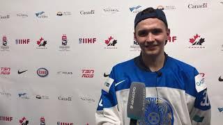Демид Еремеев после матча с Финляндией (28.12.2018)