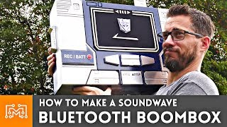 """How to make a """"Soundwave"""" Bluetooth BoomBox"""