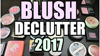 MAKEUP DECLUTTER 2017 | Blush