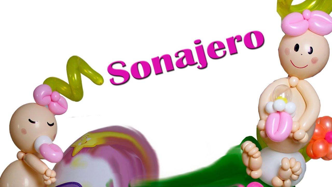 Curso de Globos, Sonajero hecho en globos twister