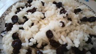 Рисовая Каша с Изюмом.Кутья поминальная.Мой Рецепт.Reisbrei mit Rosinen.Rice porridge with raisins.