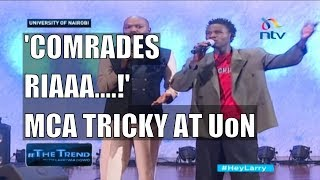 #theTrend: MCA Tricky finally goes to university and no one would stop him