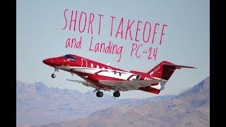 PC-24 Short Takeoff & Short Landing (Pilatus Jet )