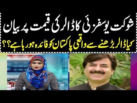 پی ٹی آئی کے رہنما شوکت علی یوسفزئی کا دعویٰ ہے کہ پاکستان کے لئے ڈالر میں اضافے اچھ .ے ہیں