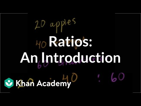 Introduction to ratios | Ratios, proportions, units, and rates | Pre-Algebra | Khan Academy