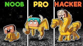 Minecraft - NOOB vs PRO vs HACKER - LUCKY EGG BOSSES!