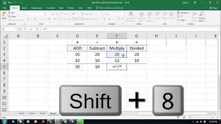 Basic Excel Formulas   Add, Subtract, Multiply, Divide