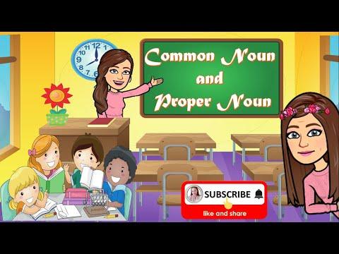 COMMON NOUN AND PROPER NOUN   Differentiating Common Nouns from Proper Nouns