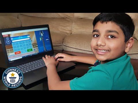 Blistering Fast Boy Genius Sets Math Record