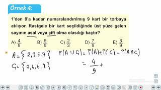 Eğitim Vadisi 11.Sınıf Matematik 15.Föy Olasılık 1 (Koşullu Olasılık) Konu Anlatım Videoları