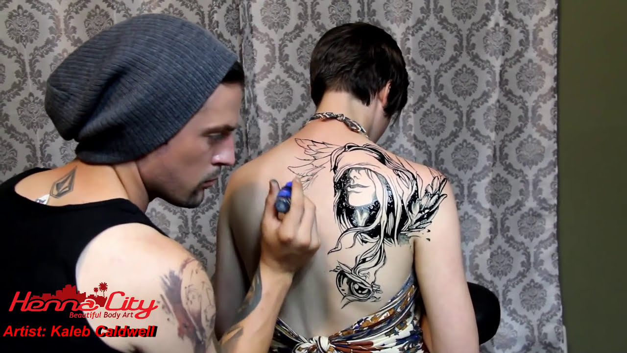 jaguar temporary tattoo mehndi design by kaleb caldwell