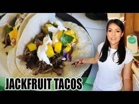 JACKFRUIT TACOS with MANGO SALSA - (EdgyVeg recipe) - #TastyTuesday