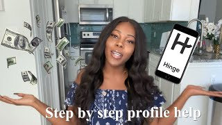 HOW TO USE HINGE THE FINESSE WAY 💰 ( building your dating profile to attract guys who spend $)