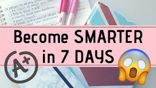 16 HACKS to Become SMARTER in 7 DAYS | StudyWithKiki