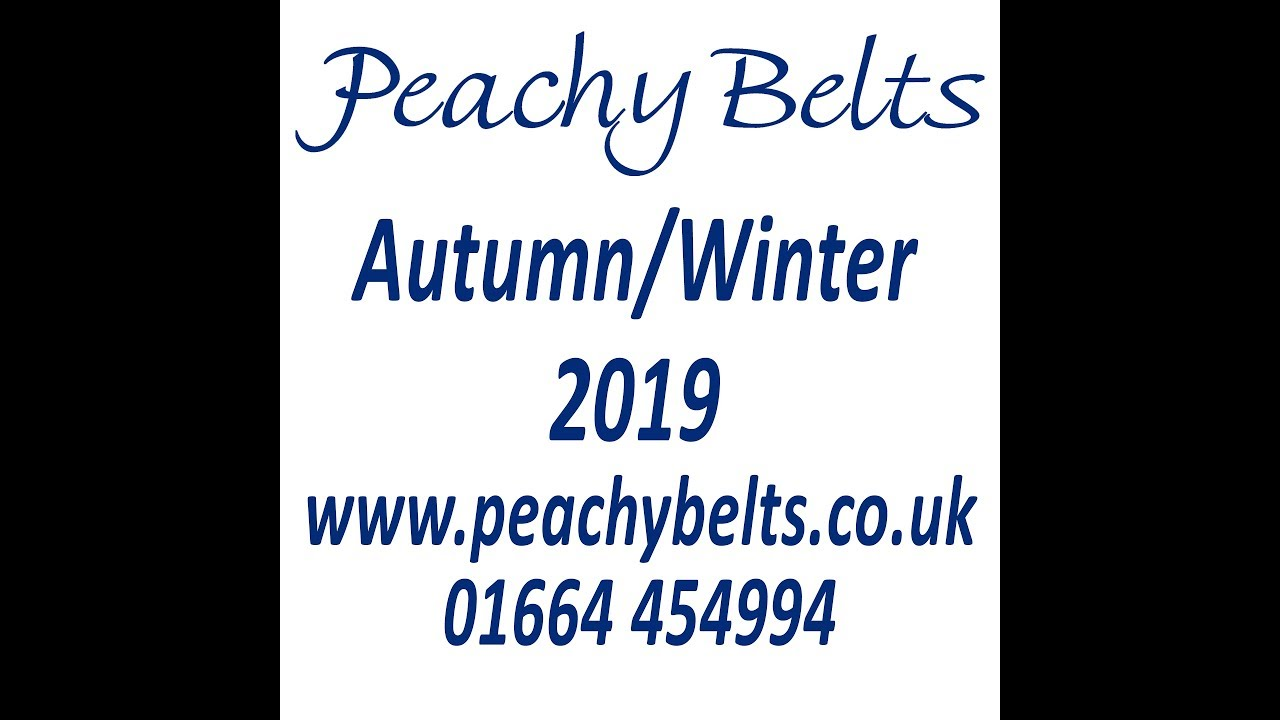 Peachy Belts Autumn/Winter 2019 stop motion video