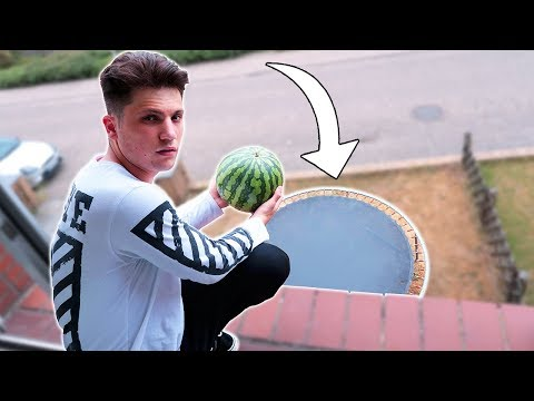 Wassermelone VS Trampolin - 500cm !!!