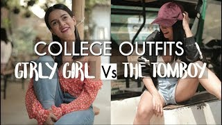 College Outfits- Girly Girl Vs The Tomboy | Komal Pandey