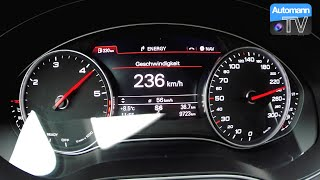 2016 Audi A6 3.0 TDI Competition (346hp) - 0-236 km/h acceleration (60FPS)