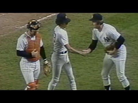 1978 WS Gm3: Guidry gets final out of complete game
