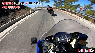 GoPro Hero 9 Black 4k 60fps On Yamaha R6