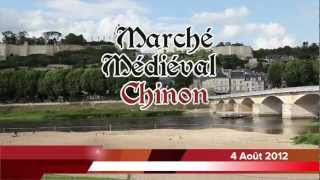 preview picture of video 'Marché Médiéval Chinon 2012'