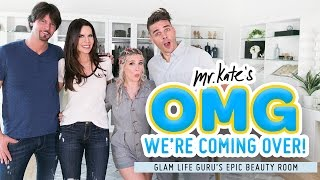 Epic Beauty Room Makeover for Tati Westbrook | Glamlifeguru x Mr. Kate | OMG We're Coming Over