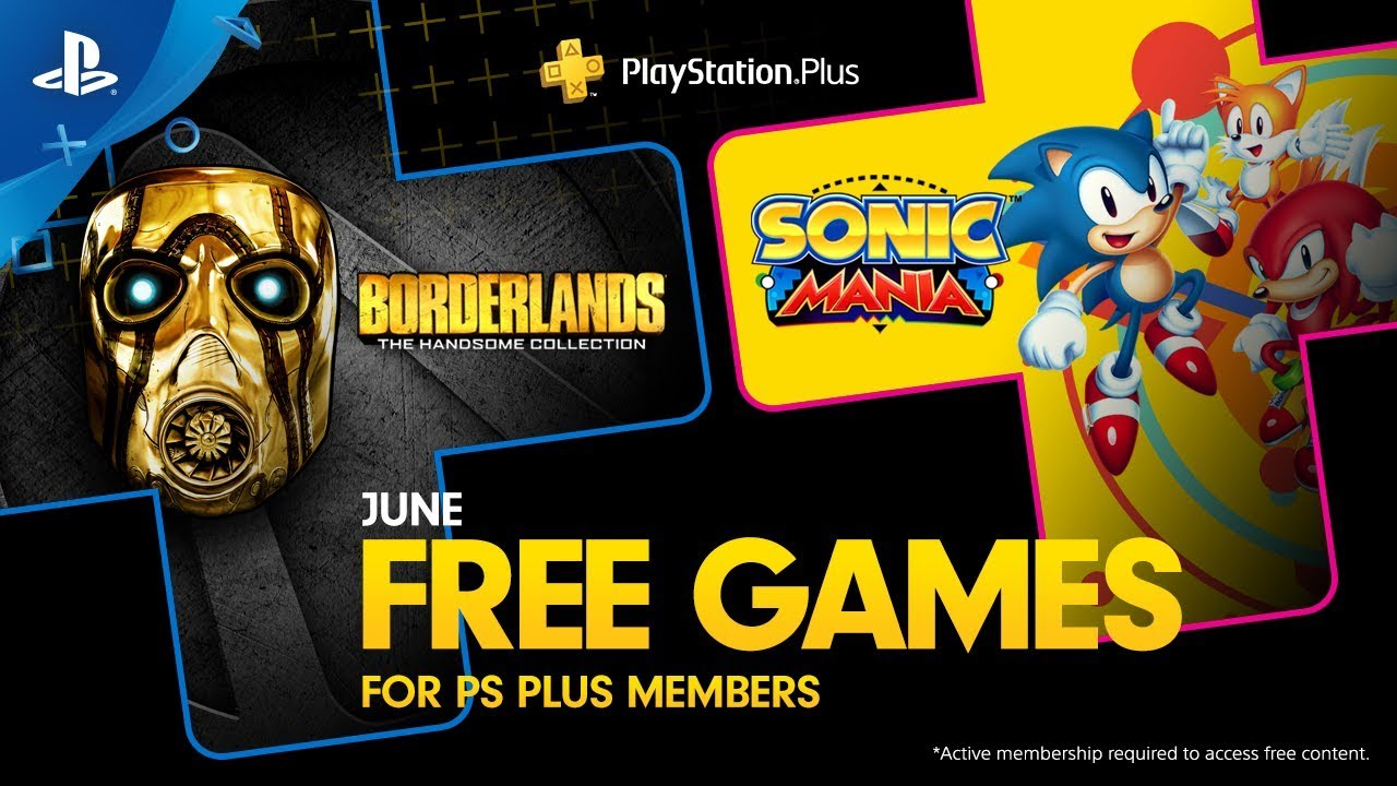 June's Free PS Plus Games are Borderlands: The Handsome Collection and Sonic Mania