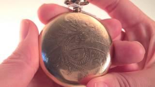 Antique Elgin Open Face Gold 7j 12s Pocket Watch (04-0030)