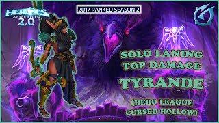 Grubby   Heroes of the Storm 2.0 - Solo Laning, Top Damage Tyrande - HL 2017 S2 - Cursed Hollow