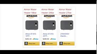 Atmor Tankless Water Heater Review | Rate | Sale