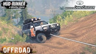 Spintires: MudRunner - TOYOTA LAND CRUISER 105 Toughest Off-road Route