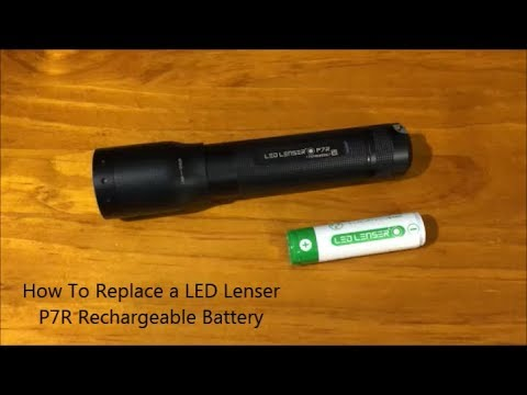 How To Replace a LED Lenser P7R Rechargeable Battery