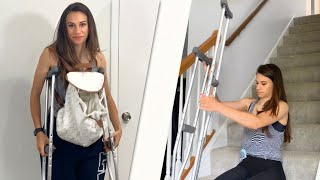 Tips for Living with Crutches after Surgery!