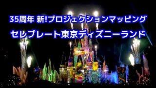 [4K]TDL ナイトタイムスペクタキュラー Celebrate! Tokyo Disneyland  ほぼ中央