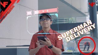 COOL DELIVERY || Superman Style