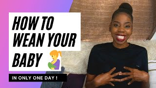 How to wean your breastfed baby/toddler in one day!How I stopped breastfeeding/nursing in 24 hours!
