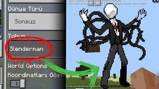 Minecraftta SLENDERMAN Seedine KESİNLİKLE GİRMEYİN!! (Minecraft PE Seed)