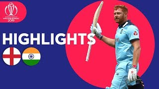 Bairstow Leads England To Victory | England vs India - Match Highlights | ICC Cricket World Cup 2019