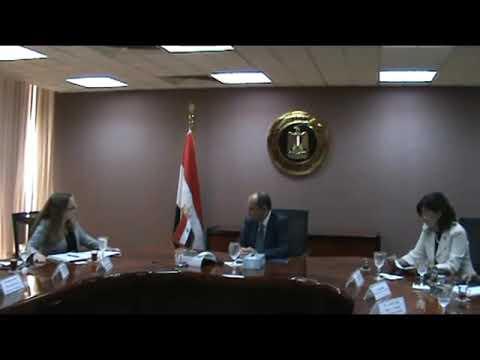اجتماع المهندس/عمرو نصار وزير التجارة والصناعة مع وفد من وزارة التجارة الامريكية