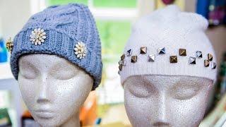 Maria Provenzanos DIY Jeweled Winter Hats