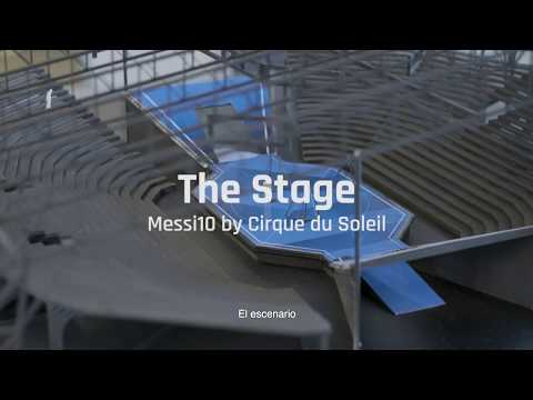 The spectacular stage of Messi10 by Cirque du Soleil