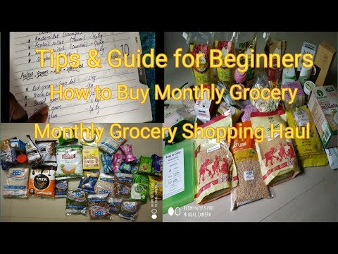 Download My Monthly Grocery List For 4 Persons Grocery Shopping Tips