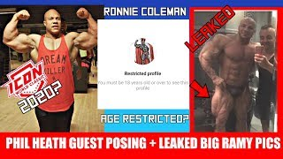 Phil Heath Guest Posing + Ronnie Coleman IG Deleted? + Big Ramy Leaked Photos?
