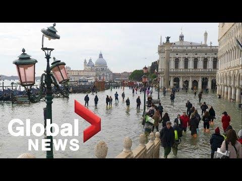 Near-recording flooding in Venice kills 2 people