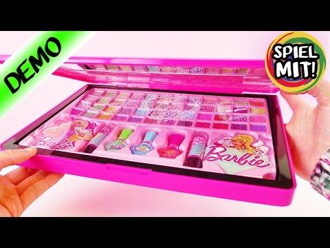 BARBIE MAKE UP | Cooler Laptop mit ÜBER 50 Lidschatten + Lippenstifte | Schminke für Kinder