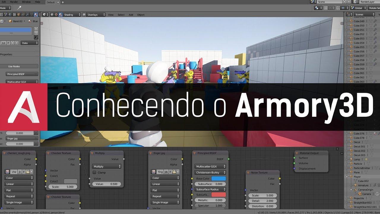 Tutorial Armory3D | Conhecendo a nova Game Engine do Blender!