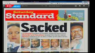 Press Review: Sacked - The 13 ministers who were dropped