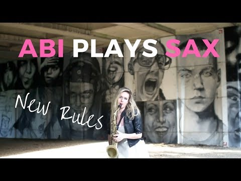 Abi Plays Sax Video